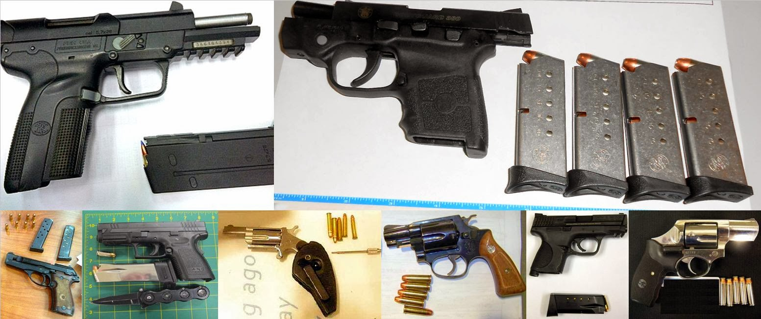 guns confiscated by tsa during 2013