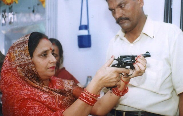 The Nirbheek is the first gun marketed to women in India and is made by the government owned factory. Photo Credit: AP