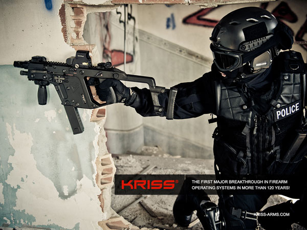 KRISS vector one handed advertisement