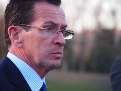 """Gov. Dannel P. Malloy says, """"It's too late"""" for CT gun owners who missed the Dec.31 deadline to register. (Photo credit: Patch.com)"""