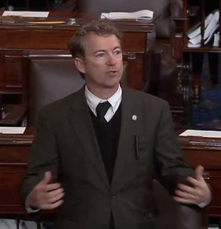 "Sen. Rand Paul wants to allow lawful carry in USPS property. ""I think there's a good chance we can pass it,"" he said about his amendment to a Postal Service reform bill. (Photo credit: Facebook)"