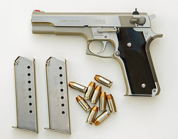 Model 4500 laid out with ammo and magazines