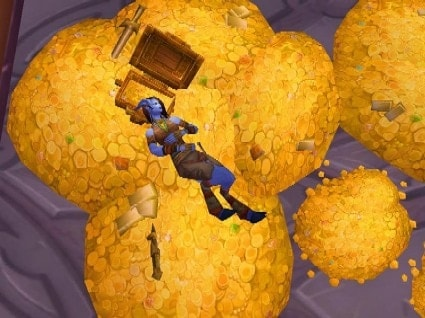 The aspect of virtual gold in such online universes like the one in this World of Warcraft screenshot was troubling to the study's creators.