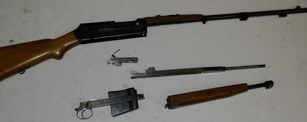 Wz38m6 rifle, stripped