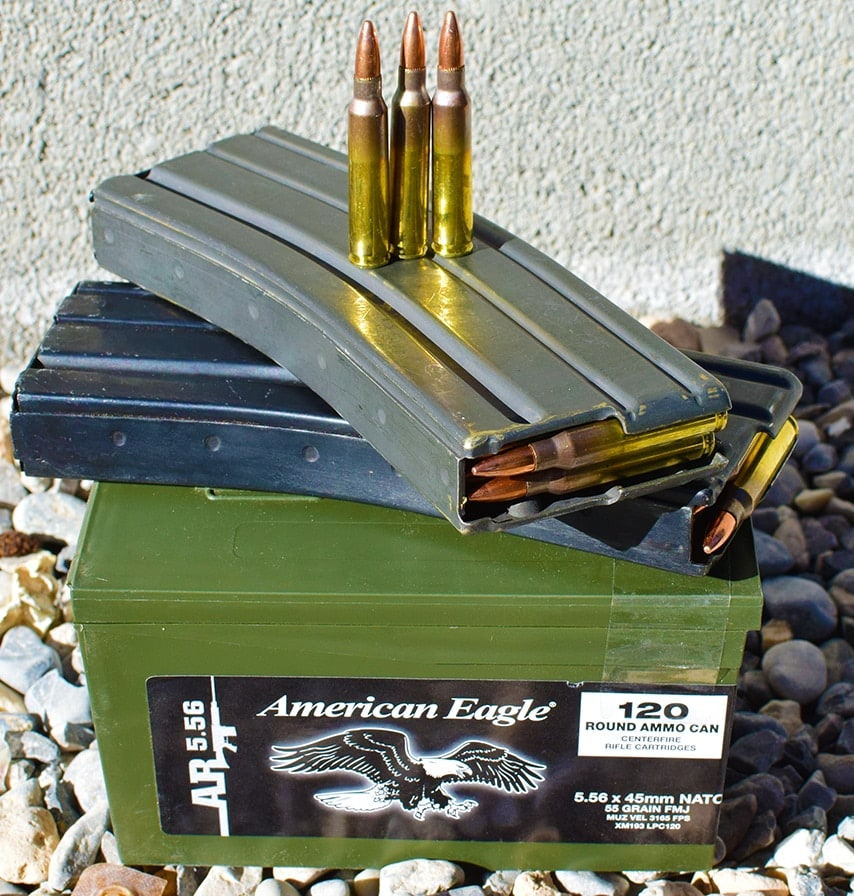 Federal milspec XM193 goes bang every single time. (Photo by Jim Grant)