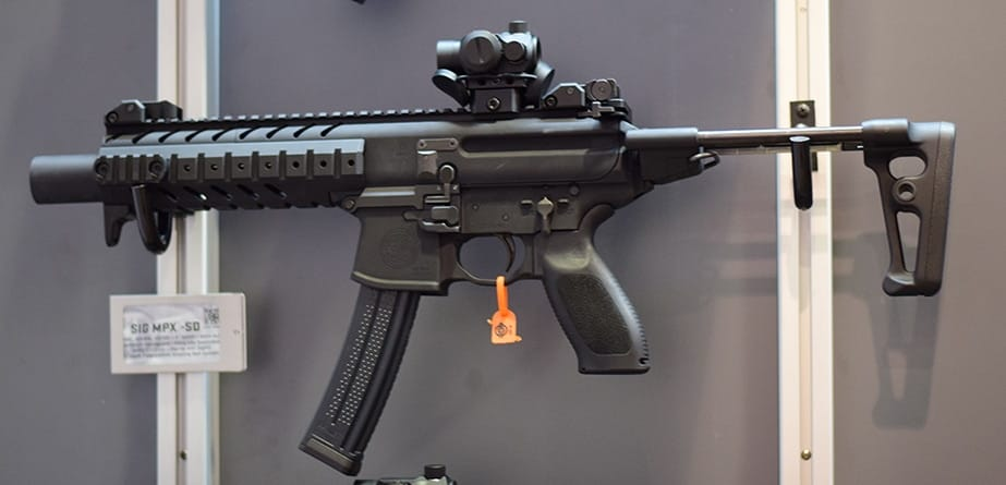 The end-game of all this ergonomic design? SIG's compact, soft-shooting quiet carbine, the MPX (Photo by: Jim Grant)