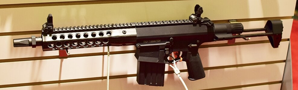 Troy's 7.62 PDW makes for a compact cannon. (Photo by: Jim Grant)