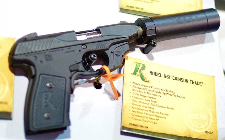 Suppressors are showing up on CCW pistols, glorious. (Photo by: Jim Grant)