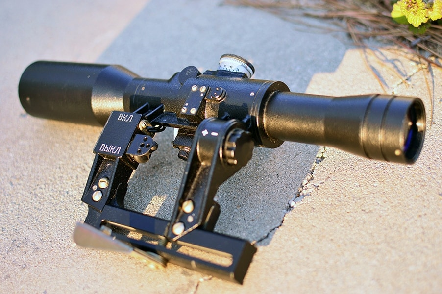 State-of-the-art Russian scope... in 1970 (Photo by: Jim Grant)