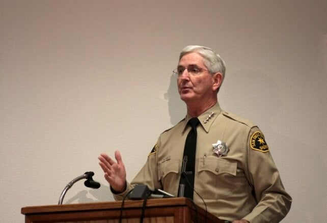 San Diego County Sheriff William Gore meanwhile is still business as usual while the Peruta decision is appealed. (Photo credit: SD City Beat)