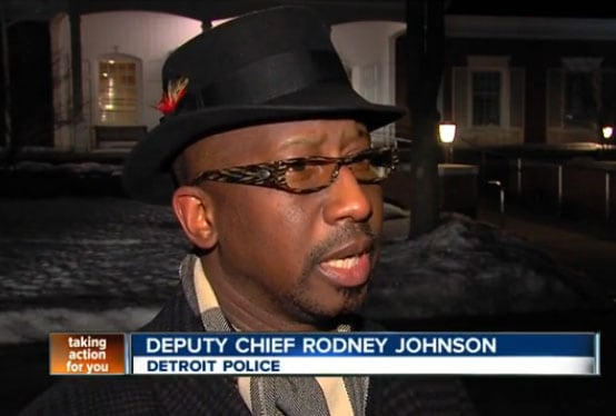 """Enough is enough,"" said Detroit Police Deputy Chief Rodney Johnson of the city's crime rate. (Photo credit: ABC)"