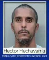 Mug shot of Hector Rivaflecha Hechavarria from last year for unknown offenses. (Photo credit: CBS)