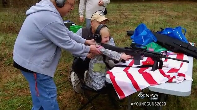 4 year old shooting gun