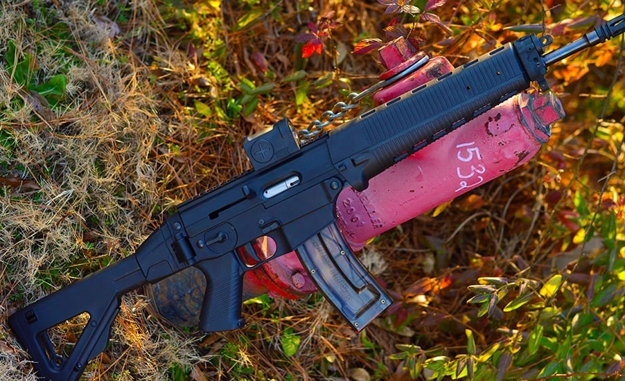 30 rounds of .22lr in a Swiss rifle, perfection. (Photo by: Jim Grant)