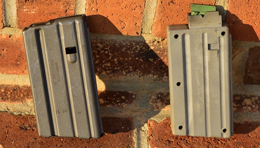 AR15 mags are very similar in shape and size. (Photo by: Jim Grant)