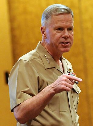 In recent years, Marine Corps Times has been openly critical of current Commandant Gen. Jim Amos, which may have led to the paper's removal from its easy access in base exchanges. (Photo credit: US Navy photo US Navy 100322-N-9818V-267)