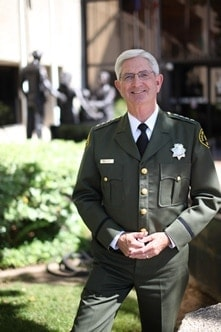 """San Diego Sheriff Bill Gore will begin to issue CCW's under post-Peruta guidelines saying it's """"law enforcement's role to uphold and enforce the law"""" (Photo credit: San Diego County Sherriff's Department)"""
