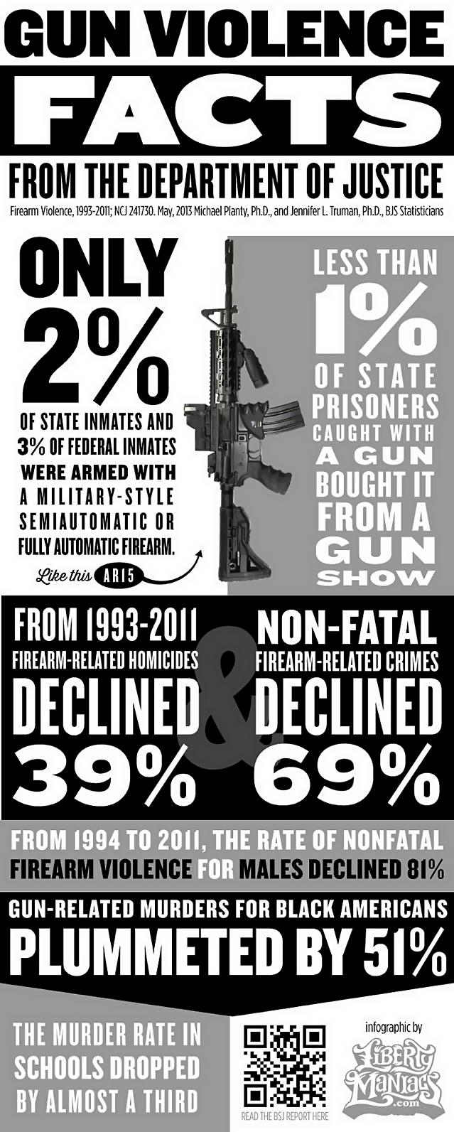 gun violence facts from the department of justice