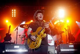 Ted Nugent playing the guitar like the hell-raising, rock legend he claims to be.