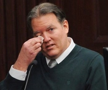 Michael Dunn, getting emotional while testifying before the jury that will decide his fate.