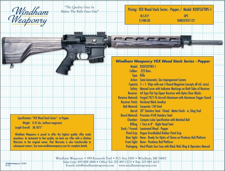 windham weaponry vex pepper spec sheet
