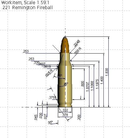 221 Remington Fireball schematic sheet