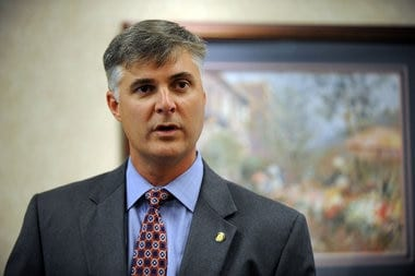 Alabama State Sen. Scott Beason, (R-Gardendale), introduced a bill to the legislature that would allow guns in cars without a permit.  (Photo credit: blog.al.com)