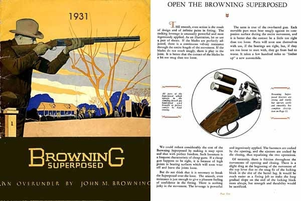 Browning Superposed advertisement