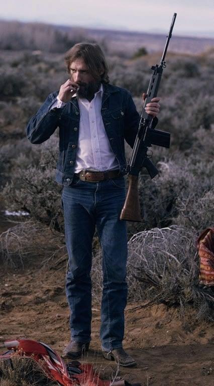 Dennis Hopper FAL rifle