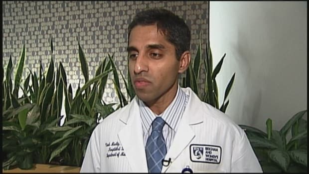 Dr. Vivek Murthy, President Obama's choice for the next Surgeon General, is the subject of a battle between groups on both sides of the gun control issue. (Photo credit: WCVB Boston)