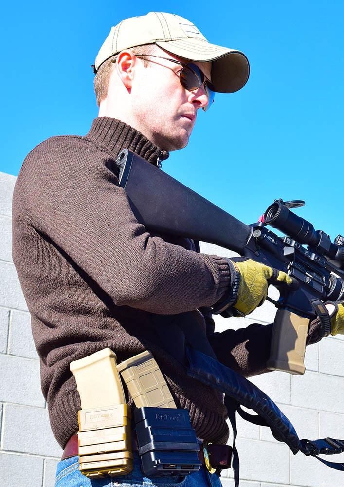 FastMag on a shooter belt