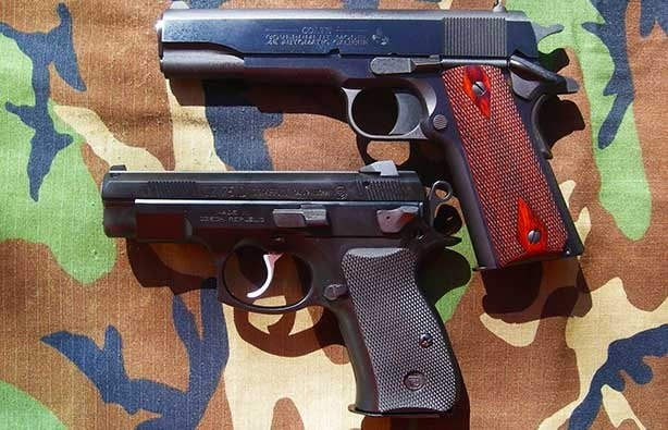 The CZ-75D PCR is about the size of a commander 1911 (Photo by: F. Borek)