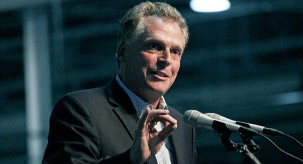 Virginia Gov. Terry McAuliffe inaugurated his veto power by canceling the state's 'guns in cars' bill. (Photo credit: AP)