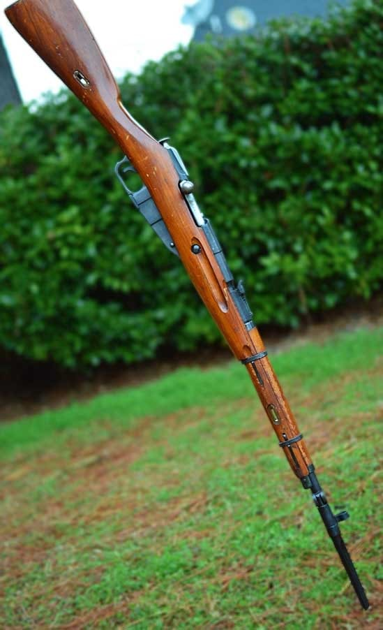 The handy carbine's permanently attached bayonet is also a screwdriver. (Photo by: Jim Grant)
