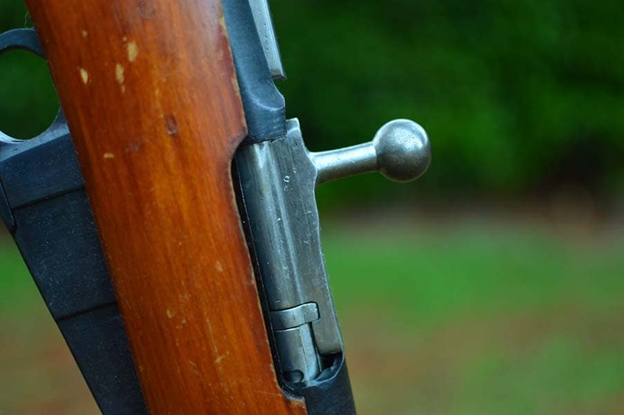 The Mosin's straight bolt makes installing a scope difficult (Photo by: Jim Grant)