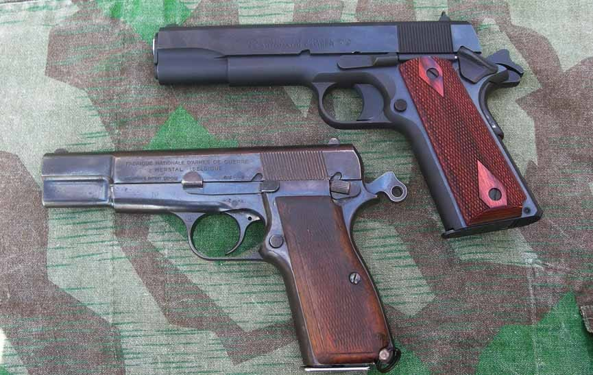 The HiPower pistol and its grandfather, the 1911 (Photo by: F. Borek)