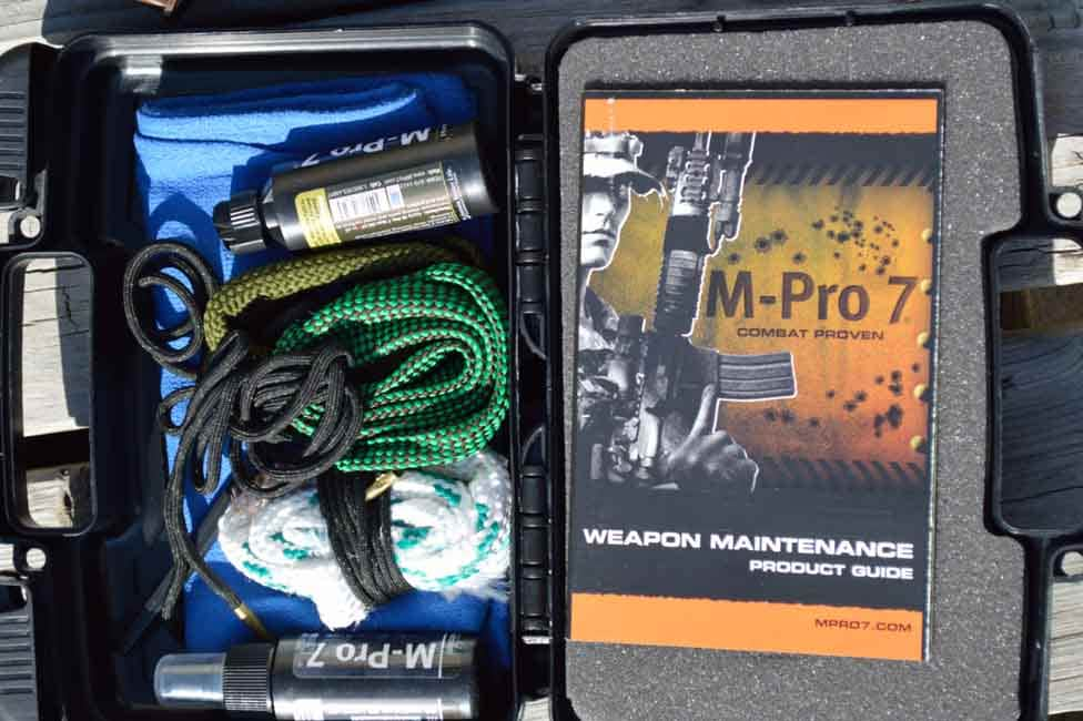 What comes in the M Pro 7 3-Gun cleaning kit (Photo by: Jim Grant)
