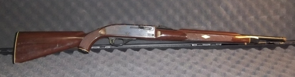 The bill would ban even such classic arms as this Remington Nylon 66, with its 14-shot tubular magazine.