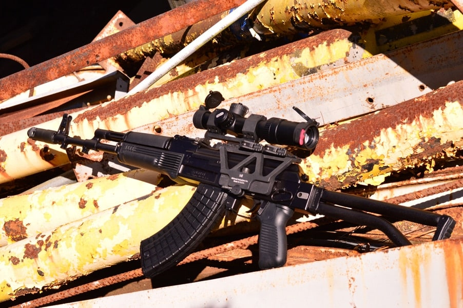SAM7SF-84 on rusty planks