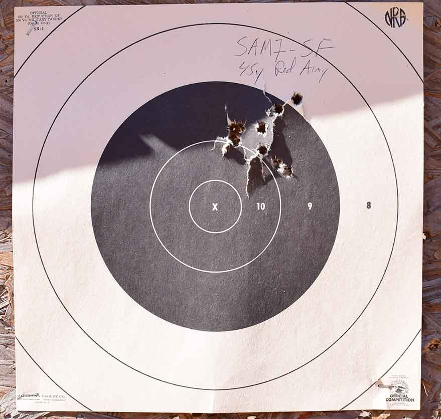 You get what you pay for, the SAM7SF shoots excellent groups