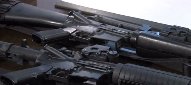 It is unknown how many rifles the school district received. (Photo credit: KSL)