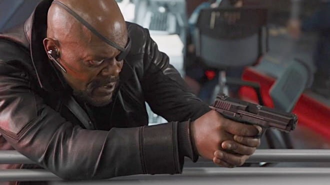 smith and wesson m&p handgun used by nick fury in avengers movies