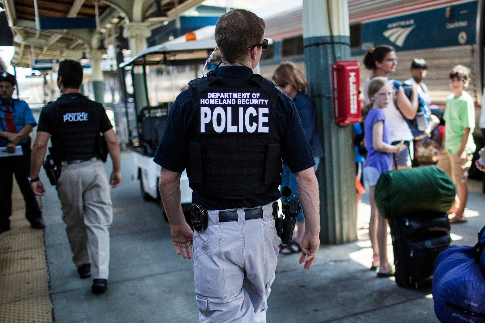 Some of the TSA's VIPR teams, normally tasked with railway security, will be making increased appearances at airports. (Photo credit: New York Times)