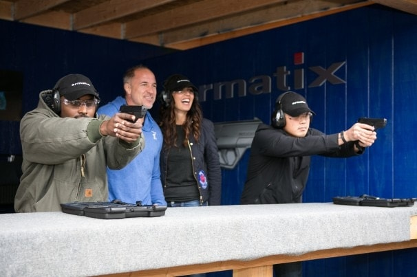 Images of California shooters having a blast at the Oak Tree Gun Club with the Armatix pistol. (Photo credit Armatix via the Washington Post)