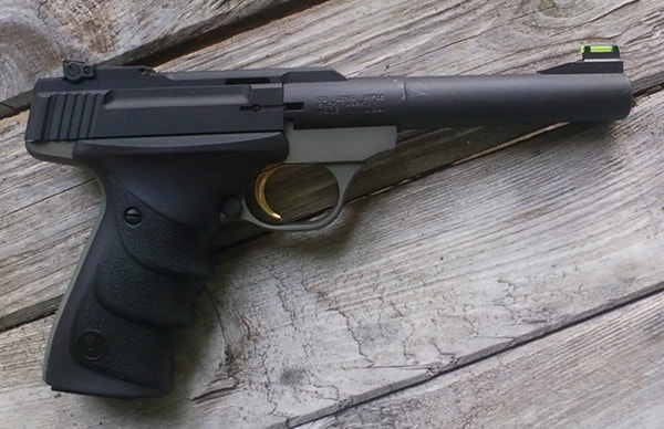 Classic Buck Mark with aftermarket grips