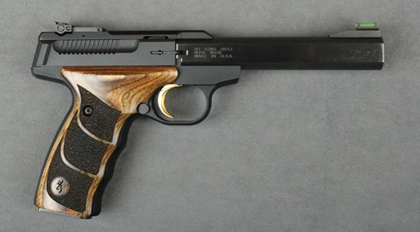 Browning Buck Mark pistol with UDX wooden grips
