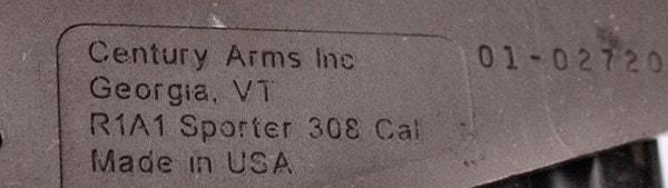 Century Arms R1A1 rollmark