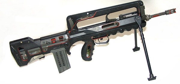 FAMAS assault rifle cutaway