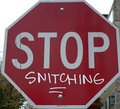 """One aspect of the """"Stop Snitching"""" movement has apparently targeted women. (Photo credit: Wikipedia)"""