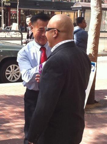 California state Sen. Leland Yee meeting with Shrimp Boy.